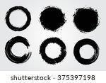 set of round grunge shapes... | Shutterstock .eps vector #375397198