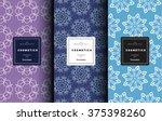 vector cosmetics logo design... | Shutterstock .eps vector #375398260