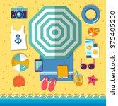 summer holidays on beach vector ...   Shutterstock .eps vector #375405250