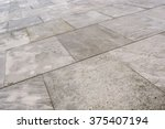 street tiled stone pavement as... | Shutterstock . vector #375407194