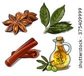 spices. vector. | Shutterstock .eps vector #375409999