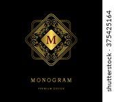 monogram design elements ... | Shutterstock .eps vector #375425164