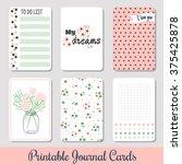 set of vintage creative cards... | Shutterstock .eps vector #375425878