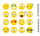 colorful emoticon  emotion ... | Shutterstock .eps vector #375429550