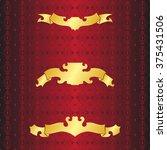 gold. set of golden vintage...   Shutterstock .eps vector #375431506