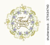 card template with hand drawn... | Shutterstock .eps vector #375434740