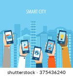 concept for mobile apps  flat... | Shutterstock .eps vector #375436240