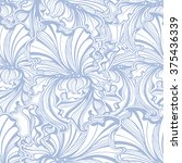Seamless Pattern Of Flowers And ...