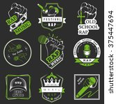 set of vector logos  badges and ... | Shutterstock .eps vector #375447694