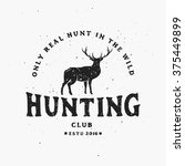 only real hunt in wild. vintage ... | Shutterstock .eps vector #375449899