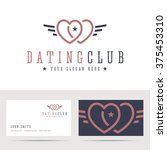 dating club logo and business...   Shutterstock .eps vector #375453310