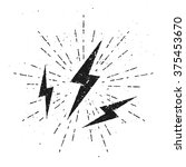 vintage lightnings illustration ... | Shutterstock .eps vector #375453670