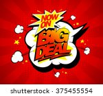 big deal now on vector... | Shutterstock .eps vector #375455554
