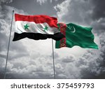 syria   turkmenistan flags are... | Shutterstock . vector #375459793