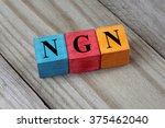 ngn  nigerian naira  symbol on... | Shutterstock . vector #375462040