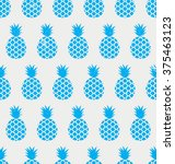 exotic pineapple pattern.... | Shutterstock .eps vector #375463123