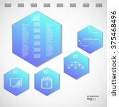 infographic design vector... | Shutterstock .eps vector #375468496