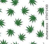 marijuana leafs with shadows... | Shutterstock .eps vector #375471430