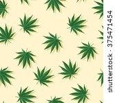 marijuana leafs with shadows... | Shutterstock .eps vector #375471454