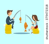 gender discrimination at work ... | Shutterstock .eps vector #375472318