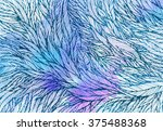 pattern of blue violet feathers ... | Shutterstock .eps vector #375488368