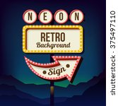 neon sign with lights  retro... | Shutterstock .eps vector #375497110