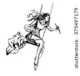 inspiration artist girl | Shutterstock .eps vector #375497179