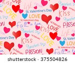 february 14 valentine's day.... | Shutterstock .eps vector #375504826