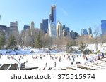 wollman rink  new york  ny  usa ... | Shutterstock . vector #375515974