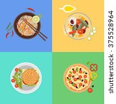 food and cooking banner flat... | Shutterstock .eps vector #375528964