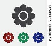 daisy icon | Shutterstock .eps vector #375529264