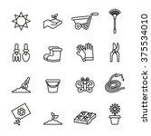 garden and gardening tools and... | Shutterstock .eps vector #375534010