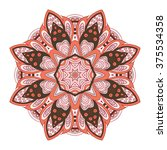 mandala pattern. doodle drawing.... | Shutterstock .eps vector #375534358