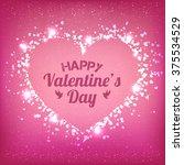 valentines day   vector... | Shutterstock .eps vector #375534529