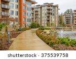 modern apartment buildings in... | Shutterstock . vector #375539758