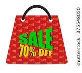 sign of sale 70  off with red...   Shutterstock .eps vector #375548020