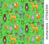 seamless pattern with different ... | Shutterstock .eps vector #375562504