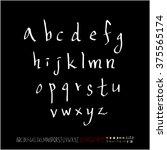 alphabet   number   handwriting ... | Shutterstock .eps vector #375565174