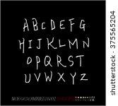 alphabet   number   handwriting ... | Shutterstock .eps vector #375565204