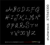 alphabet   number   handwriting ... | Shutterstock .eps vector #375565300