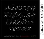 alphabet   number   handwriting ... | Shutterstock .eps vector #375565300