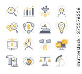 business analysis icons.... | Shutterstock .eps vector #375576256