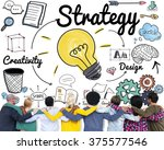 strategy ideas mission... | Shutterstock . vector #375577546