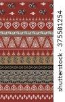 bohemian boho skirt print | Shutterstock .eps vector #375581254