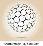 hexagonal abstract vector... | Shutterstock .eps vector #375581989