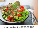 Salad From Fresh Vegetables In...