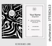 creative vertical business card ...   Shutterstock .eps vector #375582613