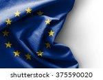 flag of europe on white... | Shutterstock . vector #375590020