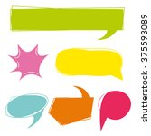 colorful speech bubbles  vector ... | Shutterstock .eps vector #375593089