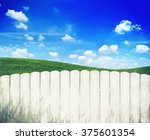White Fence With Blue Sky Plan...